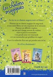 Les chatons magiques T.2 ; les chatons magiques t.2 ; une aide bien précieuse - 4ème de couverture - Format classique