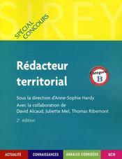 Rédacteur territorial ; catégorie B (2e édition) - Intérieur - Format classique