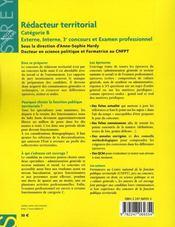 Rédacteur territorial ; catégorie B (2e édition) - 4ème de couverture - Format classique