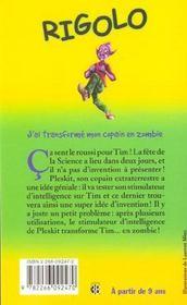 Rigolo T.25 ; J'Ai Transforme Mon Copain En Zombie - 4ème de couverture - Format classique