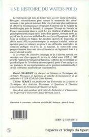 Une Histoire Du Water Polo : L'Eau Et La Balle - 4ème de couverture - Format classique