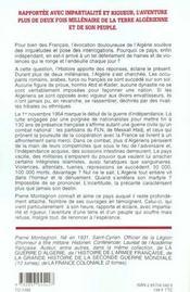Histoire de l'algerie des origines a nos jours - 4ème de couverture - Format classique