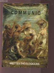REVUE COMMUNIO N.157 ; les miettes théologiques - Couverture - Format classique