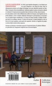 Louis-Napoléon prisonnier - 4ème de couverture - Format classique