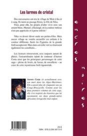 Les larmes de cristal ; Nika l'Africaine III - 4ème de couverture - Format classique