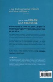 L'islam à la française - 4ème de couverture - Format classique