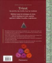 Tricot ; les points, les motifs, tout le materiel - 4ème de couverture - Format classique