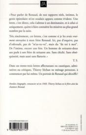Lettre à Mon Frère Renaud Thierry Séchan Acheter Occasion 08052013