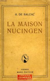 La Maison Nucingen - Couverture - Format classique