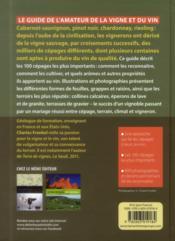 Guide des cépages et terroirs - 4ème de couverture - Format classique