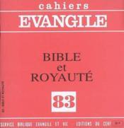 Bible Et Royaute (Collectif), No 83 - Couverture - Format classique