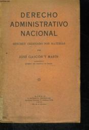 Derecho Administrativo Nacional - Couverture - Format classique