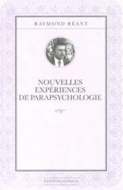Nouvelles expériences de parapsychologie - Couverture - Format classique