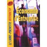 Economie d'entreprise ; bts 2e annee ; livre de l'eleve - Couverture - Format classique