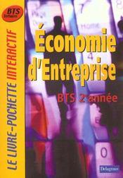 Economie d'entreprise ; bts 2e annee ; livre de l'eleve - Intérieur - Format classique