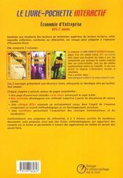 Economie d'entreprise ; bts 2e annee ; livre de l'eleve - 4ème de couverture - Format classique