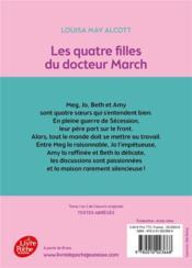 Les quatres filles du docteur March - 4ème de couverture - Format classique