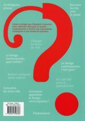 Design contemporain - 4ème de couverture - Format classique