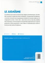 Le judaïsme ; histoire fondements et pratiques de la religion juive - 4ème de couverture - Format classique