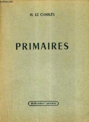 Primaires. - Couverture - Format classique