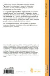 Droit des contrats - 4ème de couverture - Format classique