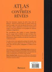 Atlas des contrées rêvées - 4ème de couverture - Format classique