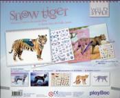 Wild style ; snow tiger ; carnet créatif - 4ème de couverture - Format classique