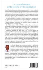 Le rassemblement de la société civile guinéenne ; une union impossible ? - 4ème de couverture - Format classique