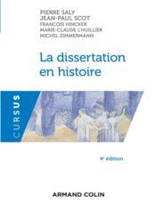 La dissertation en histoire - Couverture - Format classique