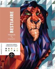 Art-thérapie ; triangles magiques ; bestiaire - Couverture - Format classique