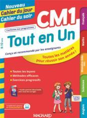 Nouveau cahier du jour / cahier du soir ; tout en un CM1 - Couverture - Format classique