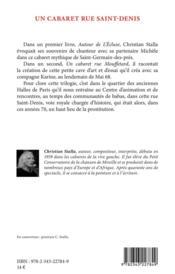 Un cabaret rue saint-denis - 4ème de couverture - Format classique