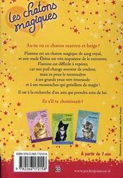 Les chatons magiques T.3 ; entre chats - 4ème de couverture - Format classique