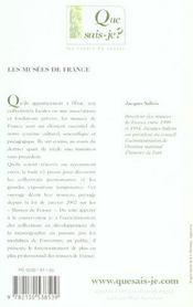 Les musées de France (3e édition) - 4ème de couverture - Format classique