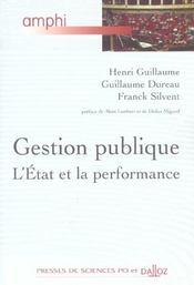 Gestion publique. l'etat et la performance - 1ere ed. - Intérieur - Format classique