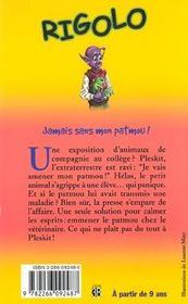 Rigolo T.29 ; Jamais Sans Mon Patmou - 4ème de couverture - Format classique
