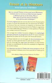Thésée et le minotaure - 4ème de couverture - Format classique