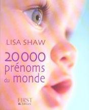 20 000 prenoms du monde - Intérieur - Format classique