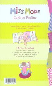 Miss Mode-Carla Et Pauline - 4ème de couverture - Format classique