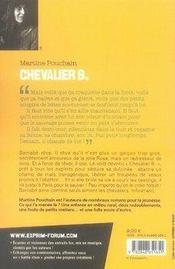 Chevalier B. - 4ème de couverture - Format classique