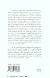 La franc-maçonnerie portugaise 1727-1820 - 4ème de couverture - Format classique
