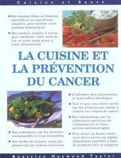 Cuisine et prevention du cancer - Intérieur - Format classique