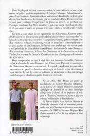 La voie spirituelle des Chartreux - 4ème de couverture - Format classique