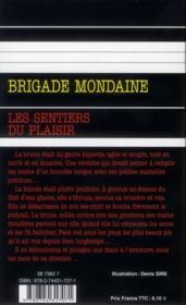 Brigade mondaine t.325 ; les sentiers du plaisir - 4ème de couverture - Format classique
