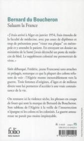 Salaam la France - Couverture - Format classique