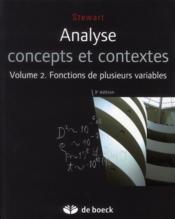 Analyse concepts et contextes volume 2 - Couverture - Format classique