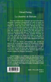 La chambre de Balsam - 4ème de couverture - Format classique