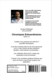 Chroniques extraordinaires t.2 - 4ème de couverture - Format classique