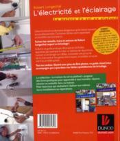 L'électricité et l'éclairage ; j'installe, je pose, je change, je répare - 4ème de couverture - Format classique