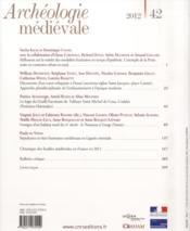 Archeologie Medievale T.42 - 4ème de couverture - Format classique